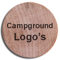 Wooden Nickels with campground logos