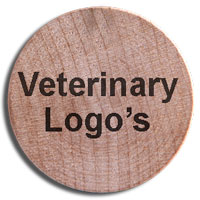 wooden nickels with veterinary logos